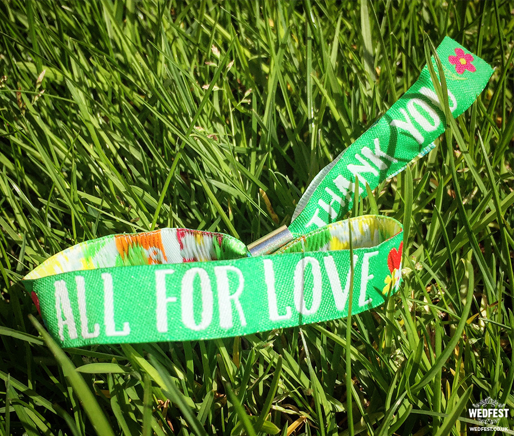 all for love custom wedding fabric wristband wedding favours