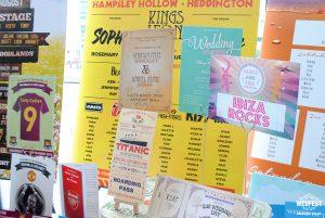 alternative wedding table name cards