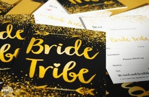 bride tribe bachelorette party invites