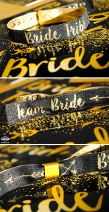 bride tribe hen bachelorette party wristbands