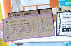 cinema ticket wedding invitations