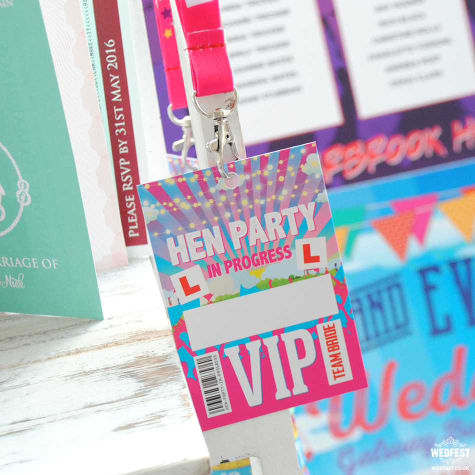 hen party vip lanyards