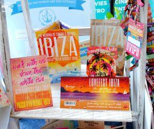 ibiza themed wedding invitations stationery