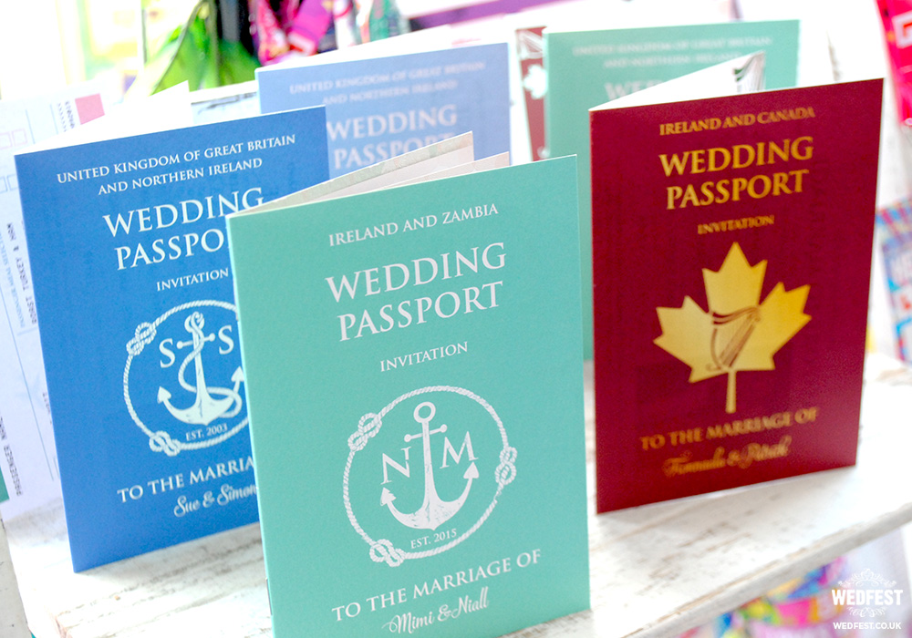 passport wedding invitation range