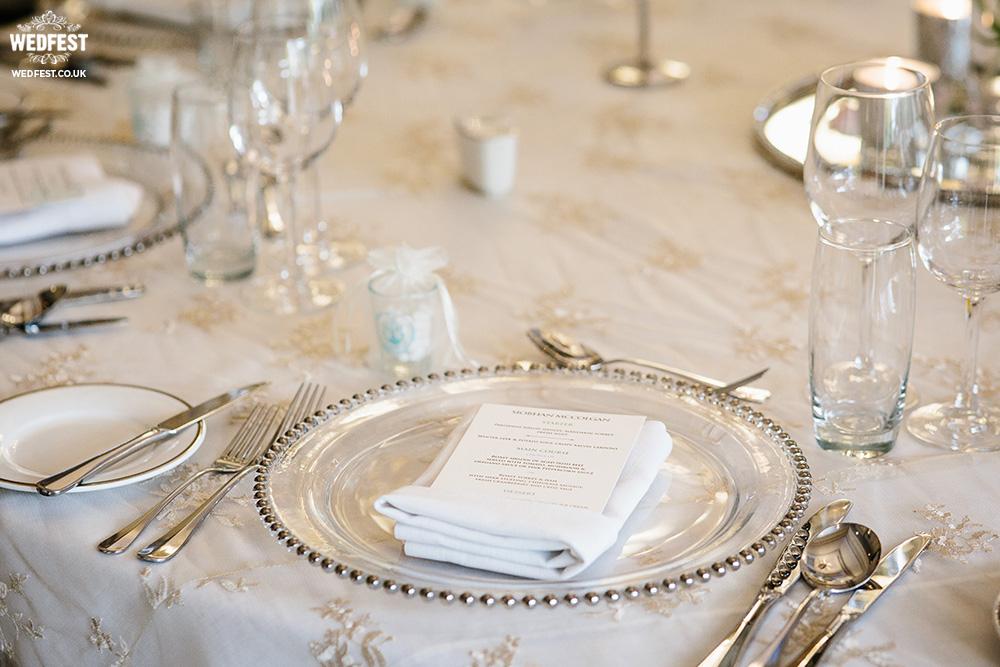 personalised wedding menu