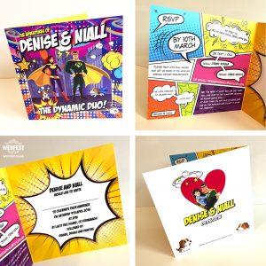 superhero wedding invitations