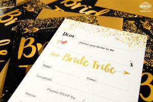 team bride invitation