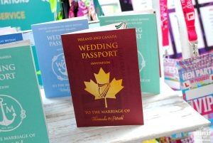 wedding passport wedding invite design