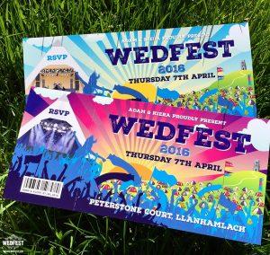 wedfest festival wedding invitation