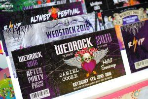 wedrock rock n roll wedding invitations