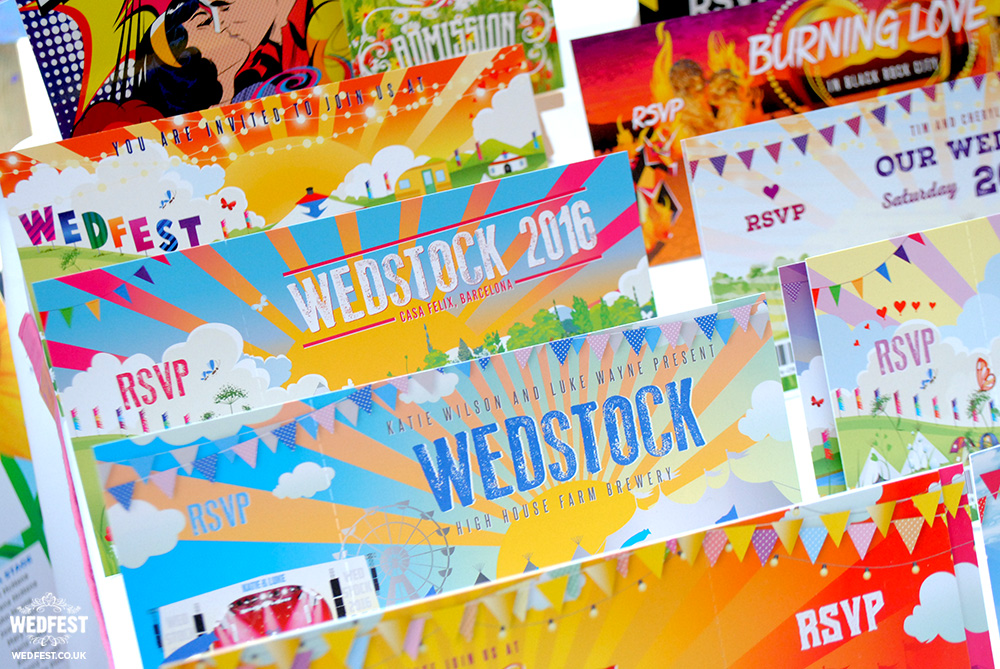 wedstock alternative wedding invitations