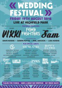 Highfield Park Festival -Wedding poster table plan