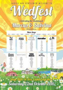 slepe hall st ives festival wedding table plan