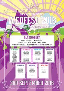 Wedfest Wedding table seating plan Heaton House Farm