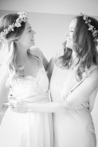 festival bride bridesmaid