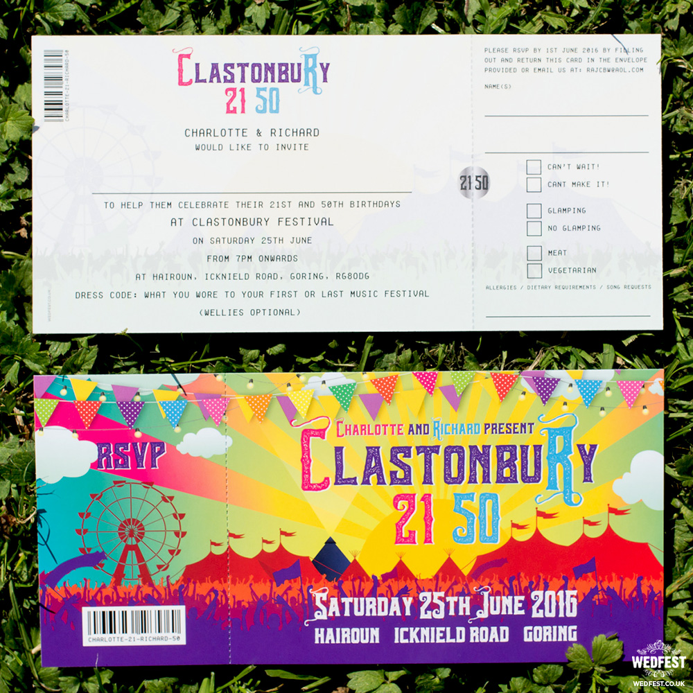 festival theme birthday invites
