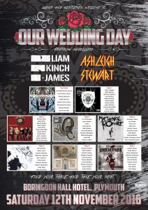 heavy metal rock n roll wedding table plan