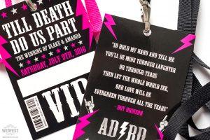rock roll wedding vip pass