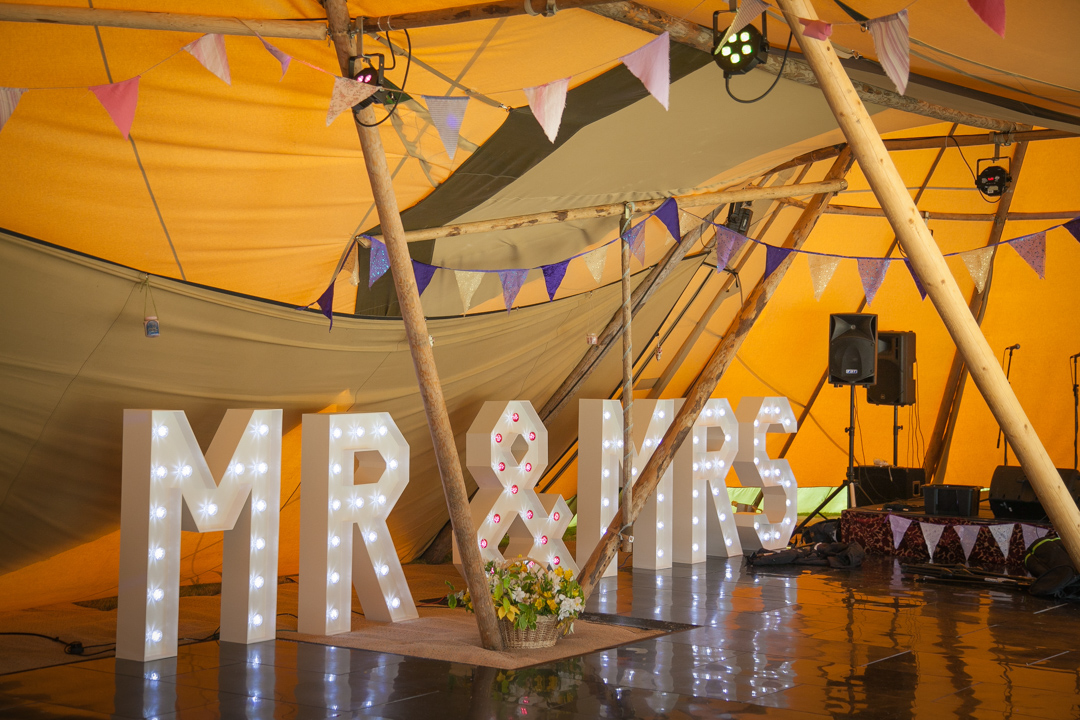 teepee festival wedding