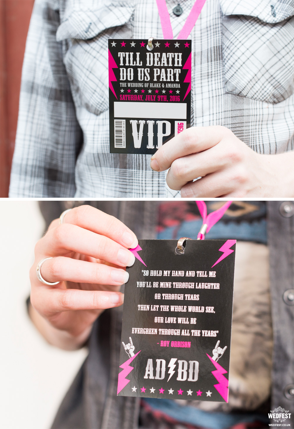 till death do us part wedding vip pass