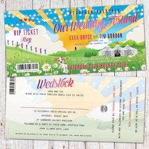 wedfest wedstock festival wedding invitations