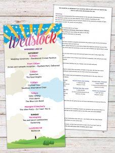 wedstock wedfest wedding invites