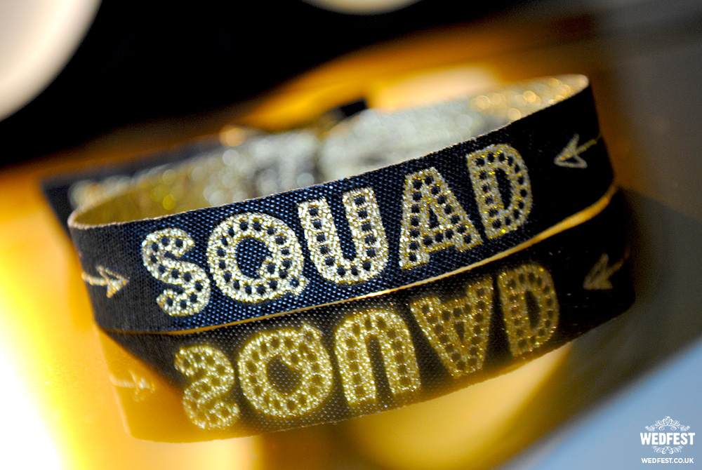 bride squad bachelorette party wristband