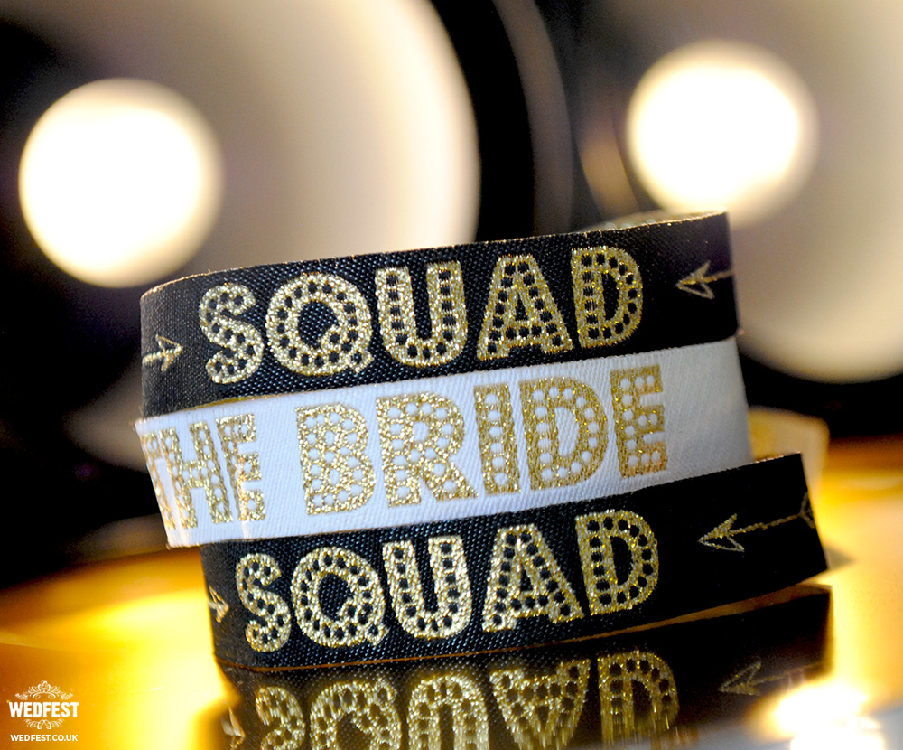 bride squad festival wristbands