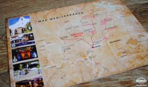 ibiza vintage map wedding invite