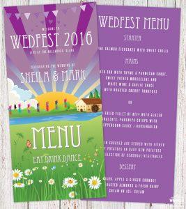 wedfest festival wedding menu