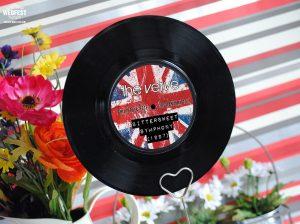 britpop wedding stationery
