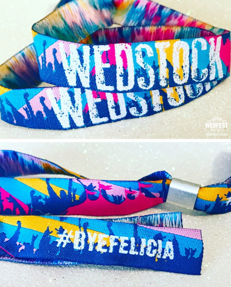 custom wedstock festival wedding wristbands bye felicia