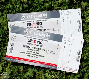 rugby wedding invitation