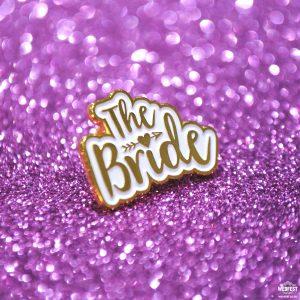 bride to be hen night badge lapel pin