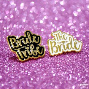 bride tribe hen party enamel pin badges