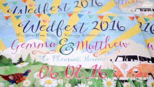 watercolor wedding invitation wedfest
