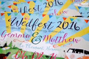 wedfest watercolour wedding invitations