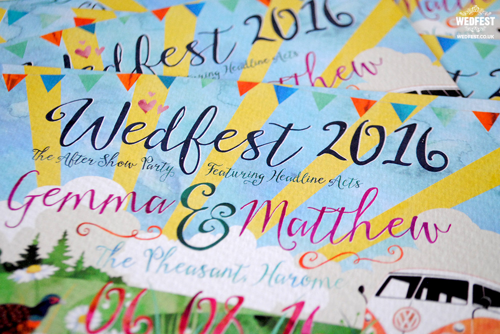 wedfest watercolour wedding invitations