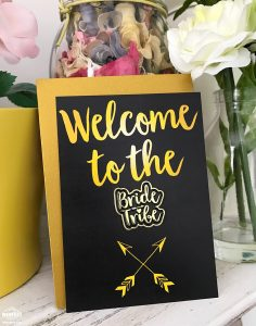 welcome to the bride tribe cards badges