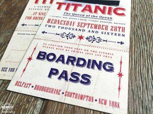 titanic ticket wedding invites