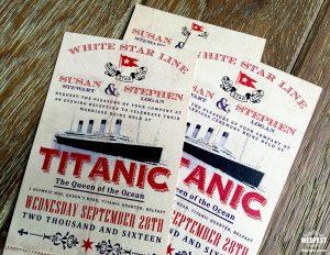 titanic wedding invitation