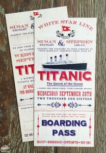 titanic wedding invites