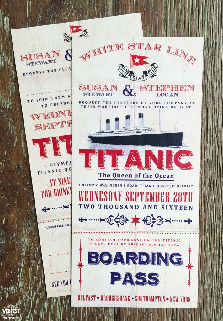 titanic wedding invites