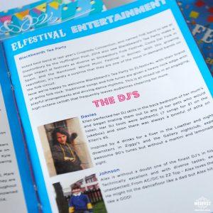 elfestival wedding programme guide booklet