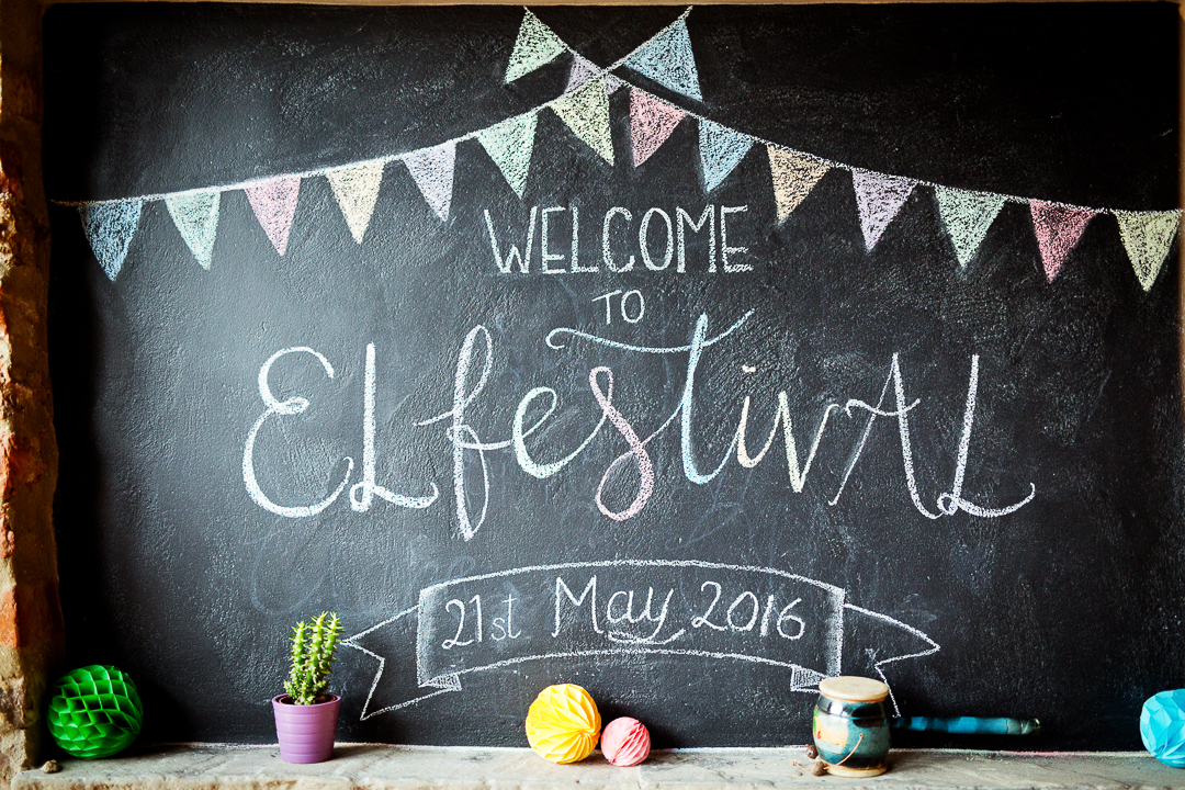 ellen alex festival wedding chalkboard