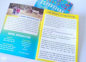 festival wedding invitation program guide booklet