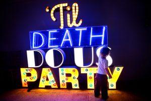 festival wedding til death do us party