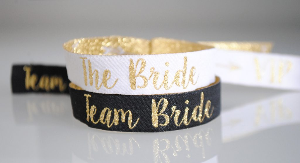 hen party accessories team bride wristbands