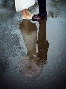 rainy festival wedding