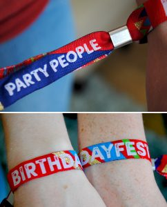 birthday parties festival woven wristbands